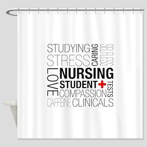 Nursing Student Box Shower Curtain