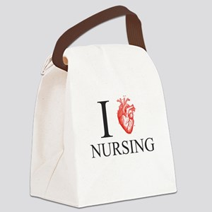 I Heart Nursing Canvas Lunch Bag