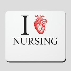 I Heart Nursing Mousepad