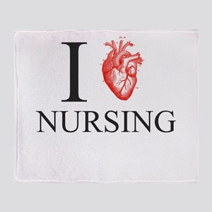 I Heart Nursing Throw Blanket