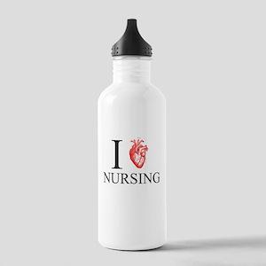 I Heart Nursing Stainless Water Bottle 1.0L