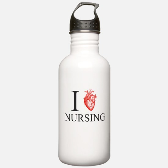 I Heart Nursing Water Bottle