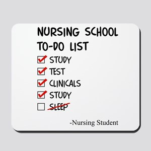 Nursing Student To-Do List Mousepad