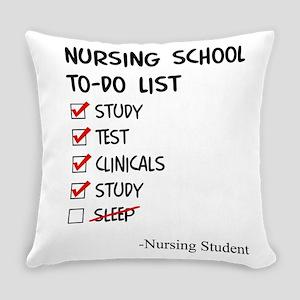 Nursing Student To-Do List Everyday Pillow