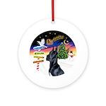 Xsigns-Black Great Dane Round Ornament