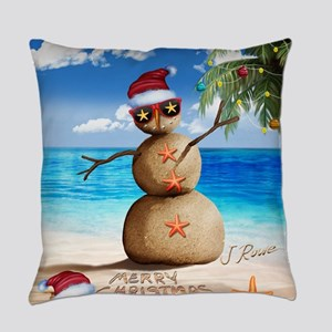 J Rowe Sandman Snowman Everyday Pillow