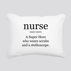 nurse definition two Rectangular Canvas Pillow