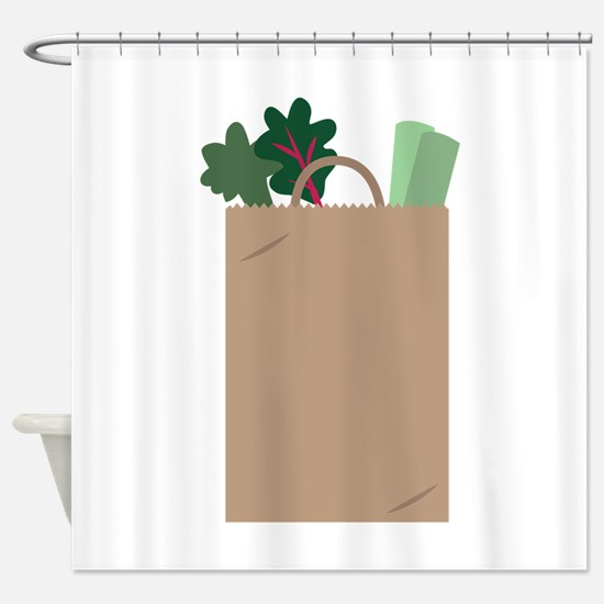 Grocery Bag Shower Curtain
