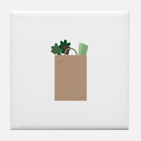 Grocery Bag Tile Coaster