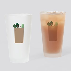 Grocery Bag Drinking Glass