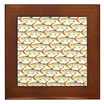 Tigerfish Pattern Framed Tile