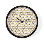 Tigerfish Pattern Wall Clock