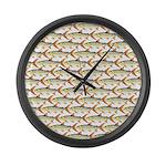 Tigerfish Pattern Large Wall Clock