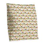 Tigerfish Pattern Burlap Throw Pillow
