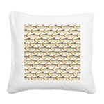 Tigerfish Pattern Square Canvas Pillow