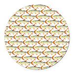 Tigerfish Pattern Round Car Magnet
