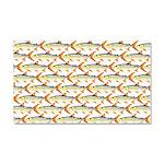 Tigerfish Pattern Car Magnet 20 x 12
