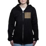 Tigerfish Pattern Women's Zip Hoodie