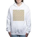 Tigerfish Pattern Women's Hooded Sweatshirt