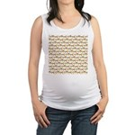 Tigerfish Pattern Maternity Tank Top