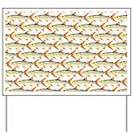 Tigerfish Pattern Yard Sign