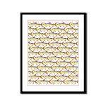 Tigerfish Pattern Framed Panel Print
