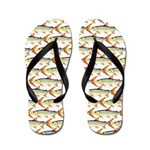 Tigerfish Pattern Flip Flops