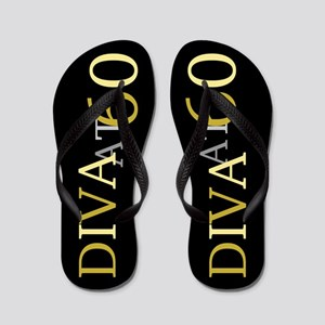60th Birthday Diva Flip Flops