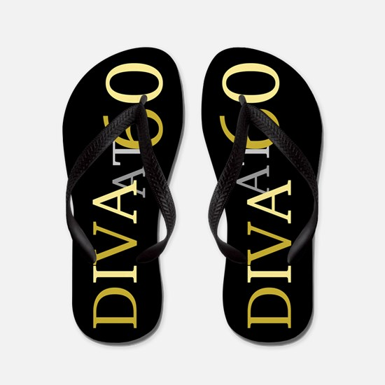 60th Birthday Diva Flip Flops