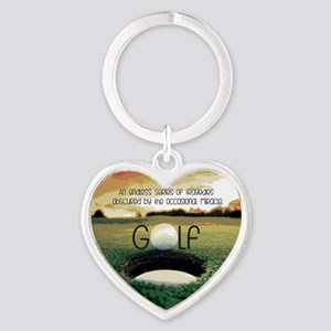 The Miracle of Golf Heart Keychain