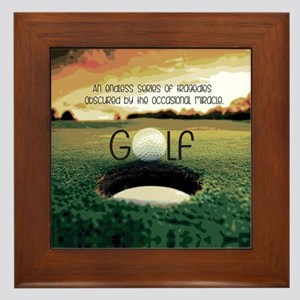 The Miracle of Golf Framed Tile