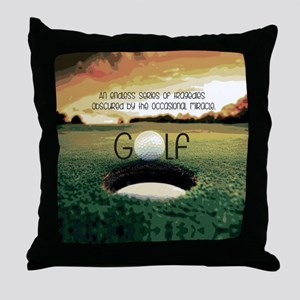 The Miracle of Golf Throw Pillow