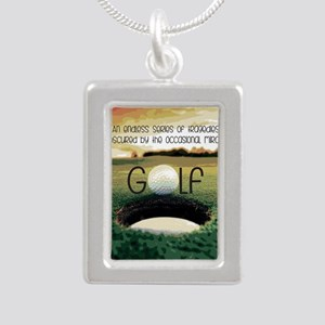 The Miracle of Golf Silver Portrait Necklace