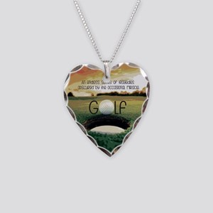 The Miracle of Golf Necklace Heart Charm