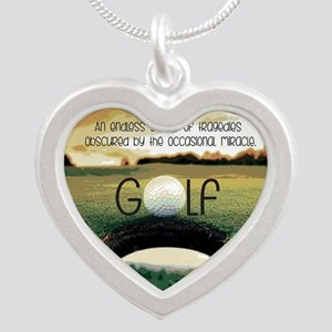 The Miracle of Golf Silver Heart Necklace