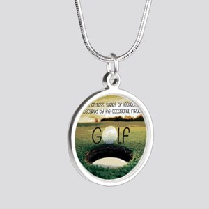The Miracle of Golf Silver Round Necklace