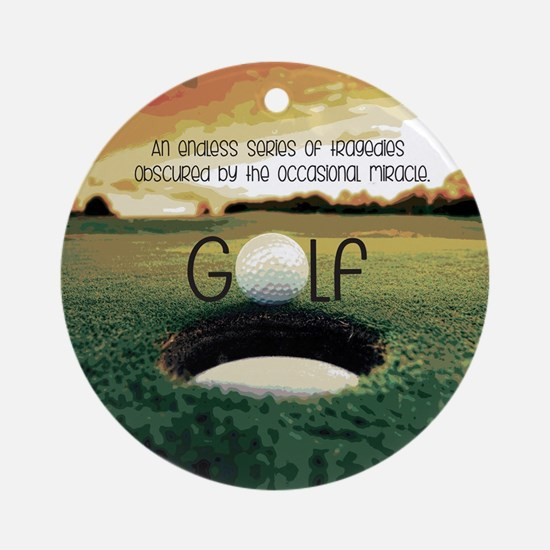 The Miracle of Golf Round Ornament