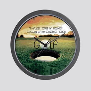 The Miracle of Golf Wall Clock