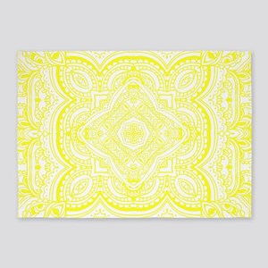 breezy, spring, summer, white, yell 5'x7'Area Rug