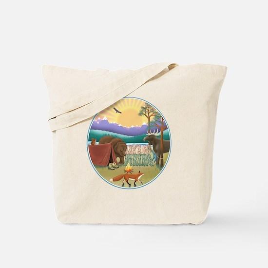 Funny Fire sunrise Tote Bag