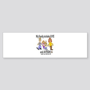 My family includes autism! Bumper Sticker
