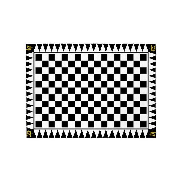 Le Droit Humain Masonic 5 X7 Area Rug By Briansanchez