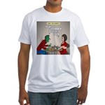 Zombie Table Manners Fitted T-Shirt