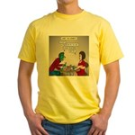 Zombie Table Manners Yellow T-Shirt