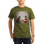 Zombie Table Manners Organic Men's T-Shirt (dark)