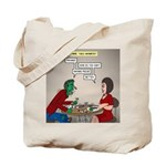 Zombie Table Manners Tote Bag