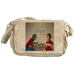 Zombie Table Manners Messenger Bag