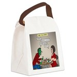 Zombie Table Manners Canvas Lunch Bag