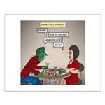 Zombie Table Manners Small Poster
