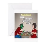 Zombie Table Manners Greeting Cards (Pk of 10)